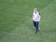 England manager Roy Hodgson looks on during the England training session at Arena Corinthians, Sao Paulo, Brazil, on the eve of their World Cup 2014 Group D match against Uruguay.<br /> Picture by Andrew Tobin/Focus Images Ltd +44 7710 761829<br /> 18/06/2014