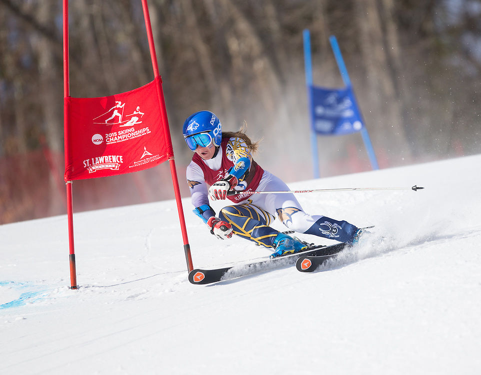 Benedicte Oseid Lyche of Montana State University, skis during the first run of the Women's Giant Slalom at the NCAA Division I Skiing Championships on March 12, 2015 in Wilmington, NY. (Dustin Satloff/Colby College Athletics)