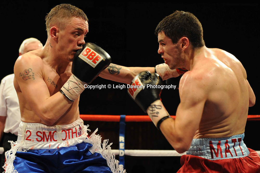 Jason Booth with trainer at the Harvey Hadden Leisure Centre 5th February 2010 Frank Maloney Promotions for the British Super Bantamweight Title. Photo credit © Leigh Dawney