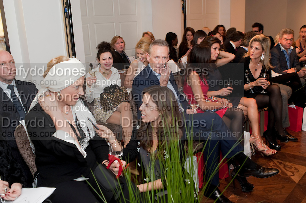 PRINCESS MICHAEL OF KENT BEING INTERVIEWED BY JOURNALIST VICTORIA-ANNE BULL; CARL MICHAELSON;  JACKIE ST. CLAIRE;  SHOSHANA DADOUN, , Stephane St. Jaymes Spring Summer 2011 fashion show.<br /> The Westbury Mayfair, Bond Street, London,DO NOT ARCHIVE-© Copyright Photograph by Dafydd Jones. 248 Clapham Rd. London SW9 0PZ. Tel 0207 820 0771. www.dafjones.com.