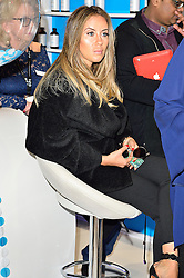 © Licensed to London News Pictures. 28/03/2016.  ANAT POPOVSKY the girlfriend of JONATHAN CHEBAN from the TV show Keeping Up With The Kardashians attends The Professional Beauty Show. The show is the largest in the UK and one of the largest in Europe. London, UK. Photo credit: Ray Tang/LNP