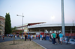 NOVI SAD, SERBIA - Tuesday, September 11, 2012: Fans outside the Karadorde Stadium ahead of the 2014 FIFA World Cup Brazil Qualifying Group A match between Serbia and Wales. (Pic by David Rawcliffe/Propaganda)