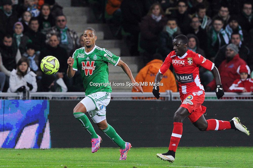 Kevin MONNET PAQUET  - 21.12.2014 - Saint Etienne / Evian Thonon - 19eme journee de Ligue 1<br /> Photo : Jean Paul Thomas / Icon Sport