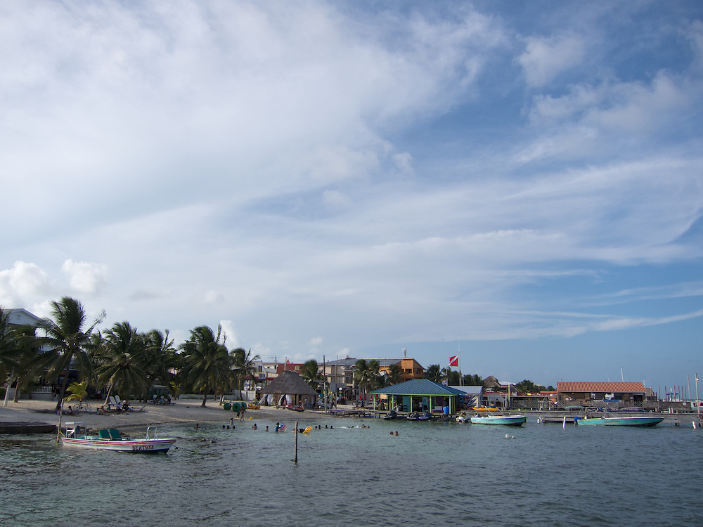 San Pedro, Belize 8/31/2012.The view from the pier in San Pedro..Alex Jones / www.alexjonesphoto.com