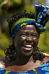 Winner of the 2004 Nobel Peace Prize and Kenyan environmental activist Wangari Maathai appeared in Capitol Park for a brief ceremony and planting of a valley oak.  Maathai founded the Green Belt Movement, through which some 40 million trees have been planted in Kenya since 1977. She is speaking this evening as part of the California Lecture series at Westminster Presbyterian Church. The Sacramento Bee/  Anne Chadwick Williams/  Sept. 21, 2007 (Credit Image: © Anne Chadwick Williams/Sacramento Bee/ZUMAPRESS.com)