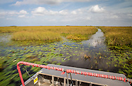View from an airboat in the Everglades,in southern Florida.