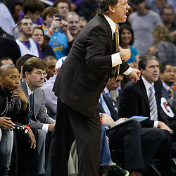 February 1, 2011; New Orleans, LA, USA; Washington Wizards head coach Flip Saunders against the New Orleans Hornets during the second half at the New Orleans Arena. The Hornets defeated the Wizards 97-89.  Mandatory Credit: Derick E. Hingle