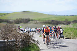Riejanne Markus (NED) sets the pace at Strade Bianche - Elite Women 2019, a 136 km road race starting and finishing in Siena, Italy on March 9, 2019. Photo by Sean Robinson/velofocus.com