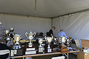 San Diego, California. USA.  Trophy Cleaning and transportation, of the Cups and Plates to be presented to  winning crews at the 2013 Crew Classic Regatta, Mission Bay.  07:39:26.  Saturday  06/04/2013   [Mandatory Credit. Peter Spurrier/Intersport Images]  ..