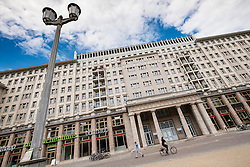 Historic socialist former East German apartment buildings on Karl Marx Allee in Berlin Germany