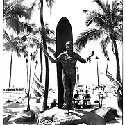The statue honoring Duke Paoa Kahanamoku is a famous landmark in Waikiki Beach on the island Oahu, Hawaii.