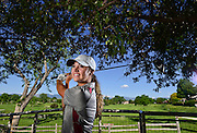 Silver Creek High School's Erin Sargent poses for a portrait at Twin Peaks Golf Course on Monday. Sargent  claimed the CHSAA Class 4A girls golf state title at Pueblo Country Club in 2016.<br /> Matthew Jonas/Staff Photographer May 30 2016