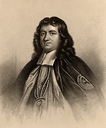 Gilbert Burnet (1643-1715) Scottish theologian and historian. A brilliant linguist, as well as his native English, he was fluent in Dutch, French, Latin, Greek and Hebrew.  On the flight of James II, he was appointed Bishop of Salisbury by William III. Author of 'The History of His Own Times' (London, 1723).  Engraving from 'A Biographical Dictionary of Eminent Scotsmen' by Thomas Thomson (1870).