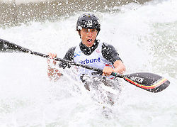 27.06.2015, Verbund Wasserarena, Wien, AUT, ICF, Kanu Wildwasser Weltmeisterschaft 2015, K1 men, im Bild Samuel Pype (BEL) // during the final run in the men's K1 class of the ICF Wildwater Canoeing Sprint World Championships at the Verbund Wasserarena in Wien, Austria on 2015/06/27. EXPA Pictures © 2014, PhotoCredit: EXPA/ Sebastian Pucher