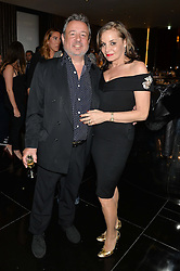 HAMISH McALPINE and CAROLE SILLER at the Launch Of Alain Ducasse's Rivea Restaurant At The Bulgari Hotel, 171 Knightsbridge, London on 8th May 2014.