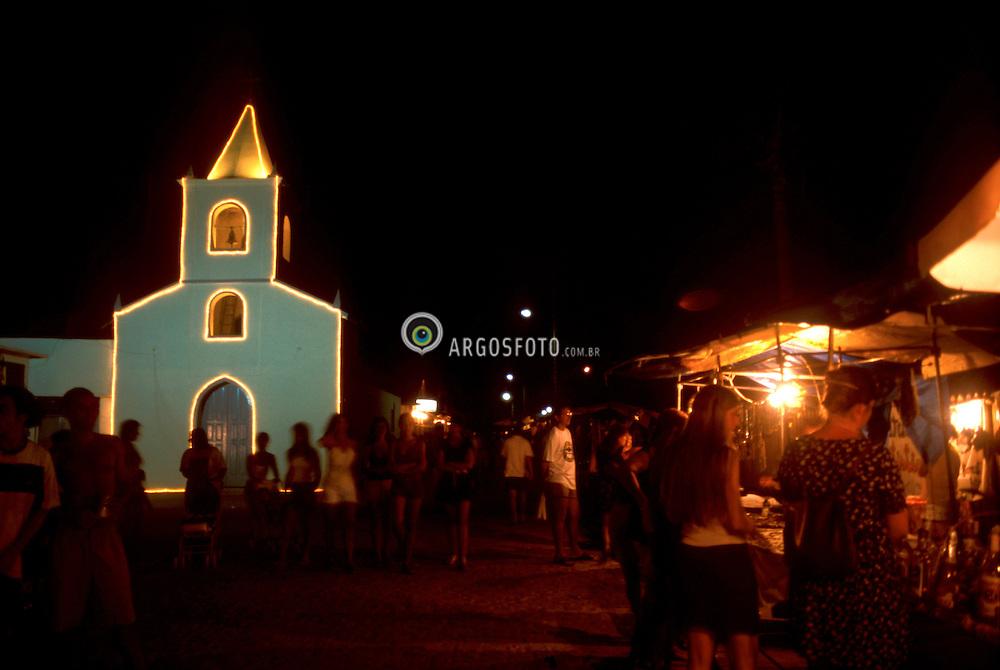 Ilha Grande,RJ.  / 2004.Igreja Vila Abraao. Centro de compras. Abraao Village Church and shopping street..Foto Rubens Chaves/Argosfoto