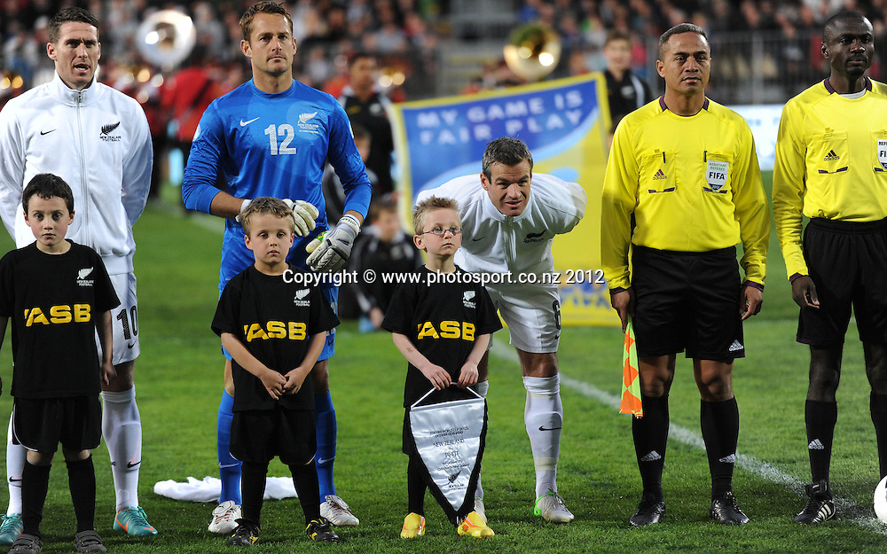 Ryan Nelsen. New Zealand All Whites v Tahiti. FIFA World Cup Qualifier Football match at AMI Stadium. Christchurch, New Zealand. Tuesday 16 October 2012. Photo: Andrew Cornaga/photosport.co.nz