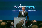 InvestPitch produced by Institutional Investor and SumZero. The event was held on November 3, 2014 at Bloomberg offices. (Photo: Jeffrey Holmes) Institutional Investor - ZeroSum present InvestPitch: Kyle Mowery of GrizzlyRock Capital at Bloomberg Offices in New York.
