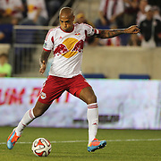Thierry Henry, New York Red Bulls, shoots during the New York Red Bulls Vs Chicago Fire, Major League Soccer regular season match won 5-4 by the Chicago Fire at Red Bull Arena, Harrison, New Jersey. USA. 10th May 2014. Photo Tim Clayton