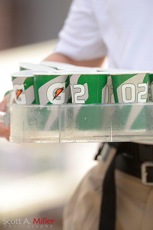 Gatorade cups during an NFL game between the New York Jets and Jacksonville Jaguars at EverBank Field on Dec 9, 2012 in Jacksonville, Florida. The Jets won 17-10...©2012 Scott A. Miller..