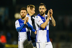 Peter Hartley of Bristol Rovers thanks the fans after a 2-0 win - Rogan Thomson/JMP - 31/12/2016 - FOOTBALL - Memorial Stadium - Bristol, England - Bristol Rovers v AFC Wimbledon - Sky Bet League One.