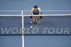 October 20, 2018 - Stockholm, SVERIGE - 181020 Frankrikes Lucas Pouille under en semifinal av tennisturneringen Stockholm Open den 20 oktober 2018 i Stockholm  (Credit Image: © Simon HastegRd/Bildbyran via ZUMA Press)