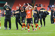 Players applaud fans - Dundee United v Hearts, Clydesdale Bank Scottish Premier League at Tannadice Park..© David Young Photo.5 Foundry Place.Monifieth.Angus.DD5 4BB.Tel: 07765252616.email: davidyoungphoto@gmail.com.http://www.davidyoungphoto.co.uk