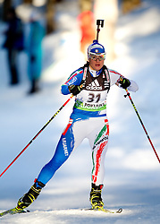 Katja Haller of Italy  during the Women 15 km Individual of the e.on IBU Biathlon World Cup on Thursday, December 16, 2010 in Pokljuka, Slovenia. The fourth e.on IBU World Cup stage is taking place in Rudno Polje - Pokljuka, Slovenia until Sunday December 19, 2010.  (Photo By Vid Ponikvar / Sportida.com)