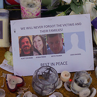 Memorial flowers at Westminster, London