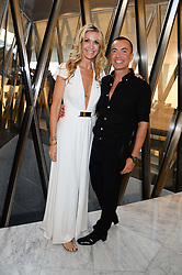 MELISSA ODABASH and JULIEN MACDONALD at the launch of the Odabash Macdonald Resort 2014 swimwear collection at ME Hotel, London on 25th June 2013.