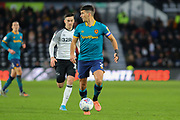 Eric Lichaj on the ball during the EFL Sky Bet Championship match between Derby County and Hull City at the Pride Park, Derby, England on 18 January 2020.