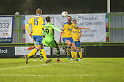 Forest Green Rovers Christian Doidge(9) shoots at goal scores a goal 3-4 during the Vanarama National League match between Forest Green Rovers and Torquay United at the New Lawn, Forest Green, United Kingdom on 1 January 2017. Photo by Shane Healey.