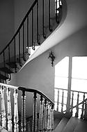 Stairway in Maison Josephine, Croissy-sur-Seine, France.   Aspect Ratio 1w x 1.50