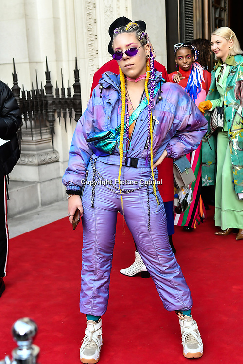 Denise Prospero is a portuguese designer attend Fashion Scout LFW AW19 Day 1 at Freemasons' Hall, London, UK. 15 Feb 2019