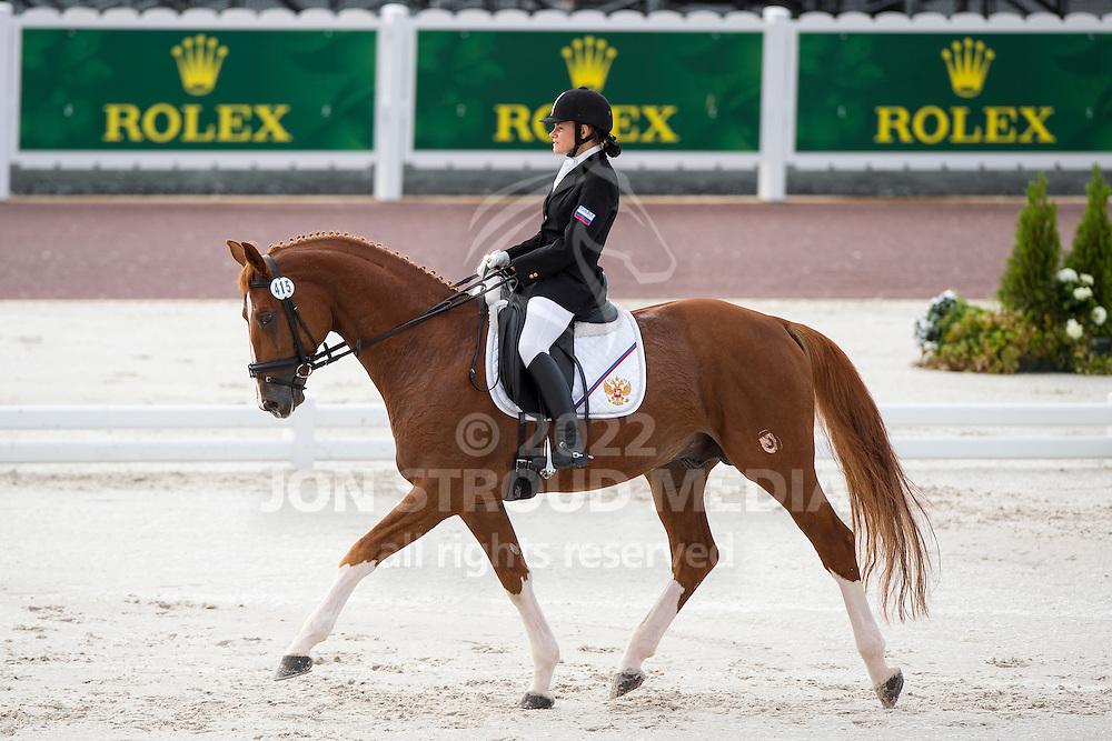 Natalya Zhavoronkova, (RUS), Typhoon - Team Competition Grade IV Para Dressage - Alltech FEI World Equestrian Games&trade; 2014 - Normandy, France.<br /> &copy; Hippo Foto Team - Jon Stroud <br /> 25/06/14