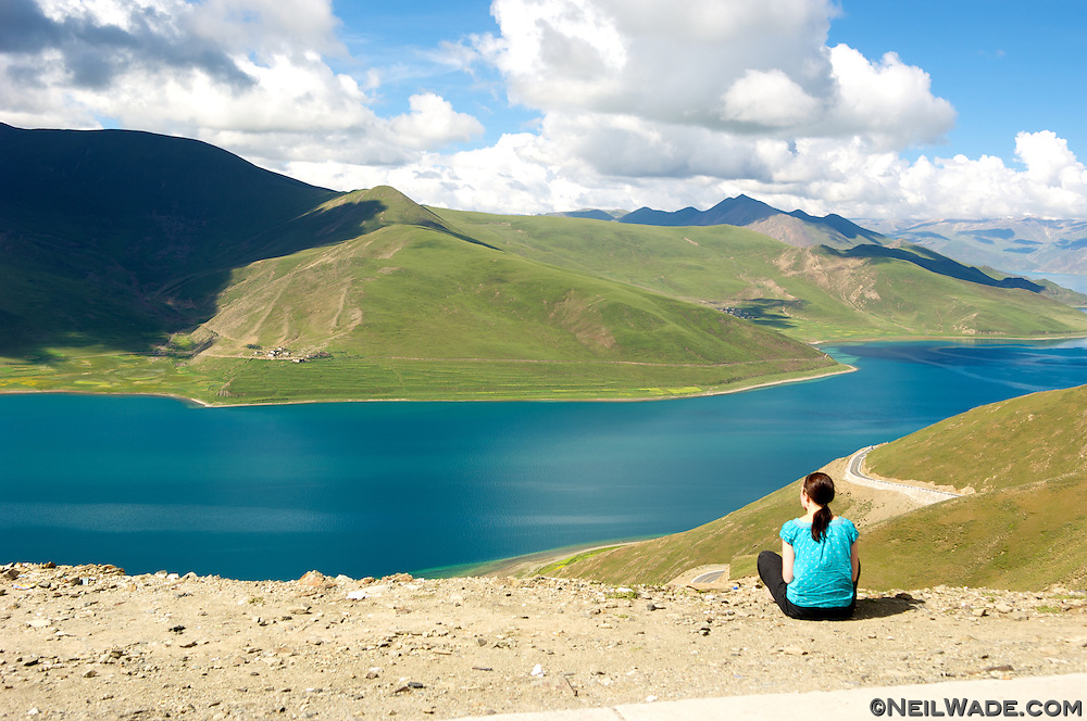 Yamdrok Lake is an alpine lake set at 4,500m (15,000ft). It is one of Tibet's four holy lakes and has no way to replenish itself...The Chinese are draining it for cheap hydroelectric energy.