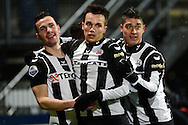 Onderwerp/Subject: Heracles Almelo - Eredivisie<br /> Reklame:  <br /> Club/Team/Country: <br /> Seizoen/Season: 2012/2013<br /> FOTO/PHOTO: Marko VEJINOVIC (C) of Heracles Almelo celebrating his goal with EVERTON ( Everton RAMOS DA SILVA ) (R) of Heracles Almelo and Thomas BRUNS (L) of Heracles Almelo ( 1 - 1 ). (Photo by PICS UNITED)<br /> <br /> Trefwoorden/Keywords: <br /> #02 #17 #22 $94 &plusmn;1355227963438<br /> Photo- &amp; Copyrights &copy; PICS UNITED <br /> P.O. Box 7164 - 5605 BE  EINDHOVEN (THE NETHERLANDS) <br /> Phone +31 (0)40 296 28 00 <br /> Fax +31 (0) 40 248 47 43 <br /> http://www.pics-united.com <br /> e-mail : sales@pics-united.com (If you would like to raise any issues regarding any aspects of products / service of PICS UNITED) or <br /> e-mail : sales@pics-united.com   <br /> <br /> ATTENTIE: <br /> Publicatie ook bij aanbieding door derden is slechts toegestaan na verkregen toestemming van Pics United. <br /> VOLLEDIGE NAAMSVERMELDING IS VERPLICHT! (&copy; PICS UNITED/Naam Fotograaf, zie veld 4 van de bestandsinfo 'credits') <br /> ATTENTION:  <br /> &copy; Pics United. Reproduction/publication of this photo by any parties is only permitted after authorisation is sought and obtained from  PICS UNITED- THE NETHERLANDS