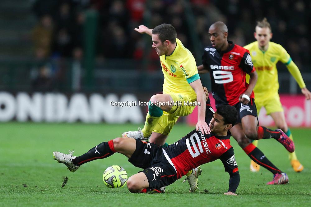 Jordan VERETOUT / Benjamin ANDRE - 21.03.2015 - Rennes / Nantes - 30eme journee de Ligue 1<br />Photo : Vincent Michel / Icon Sport