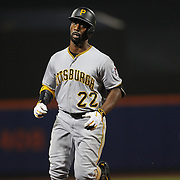 NEW YORK, NEW YORK - June 16: Andrew McCutchen #22 of the Pittsburgh Pirates runs the bases after hitting a home run during the Pittsburgh Pirates Vs New York Mets regular season MLB game at Citi Field on June 16, 2016 in New York City. (Photo by Tim Clayton/Corbis via Getty Images)