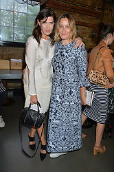 Left to right, RONNI ANCONA and KATE SPICER at Fork to Fork - a Fundraising Feast to support The Open Air Classroom Project held at The Dock Kitchen, Portobello Docks, 342-344 Ladbroke Grove, London on 19th May 2015.