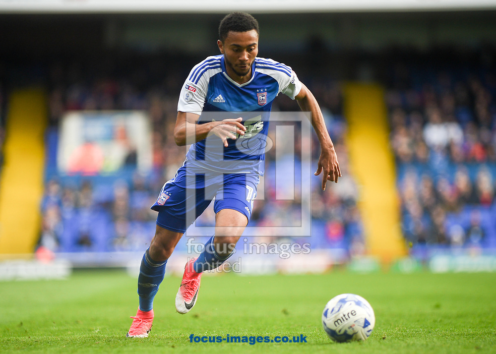 Grant Ward of Ipswich Town head towards the goal during the Sky Bet Championship match at Portman Road, Ipswich<br /> Picture by Hannah Fountain/Focus Images Ltd 07814482222<br /> 01/04/2017