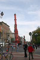 Crane on St Stephens Green Dublin Ireland<br />