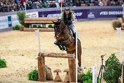 THOMSEN Peter (GER), Horseware Nobleman<br /> Neumünster - VR Classics 2019<br /> Zwei-Phasen-Springprüfung Kl. M* über Naturhindernisse<br /> 16. Indoor Eventing in Memoriam Dr. Karl Blobel<br /> 14. Februar 2019<br /> © www.sportfotos-lafrentz.de/Stefan Lafrentz