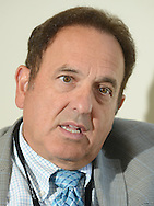 Bruce G. Haffty, MD, MS Chairman of Radiation Oncology at Laurie Proton Therapy Treatment Center speaks about the center in the waiting area Wednesday September 16, 2015 in New Brunswick, New Jersey.  (Photo by William Thomas Cain)