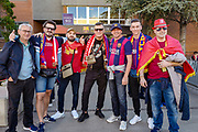 Liverpool and Barcelona fans arrive ahead of the Champions League semi-final leg 1 of 2 match between Barcelona and Liverpool at Camp Nou, Barcelona, Spain on 1 May 2019.