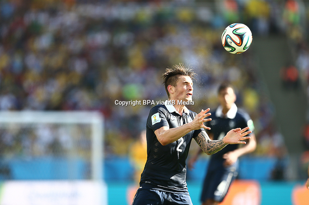 Mathieu Debuchy. France v Germany, quarter-final. FIFA World Cup Brazil 2014. 4 July 2014