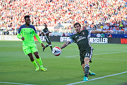 SANTA CLARA, USA - Saturday, July 30, 2016: AC Milan's Alessia Romagnoli in action against Liverpool during the International Champions Cup 2016 game on day ten of the club's USA Pre-season Tour at the Levi's Stadium. (Pic by David Rawcliffe/Propaganda)
