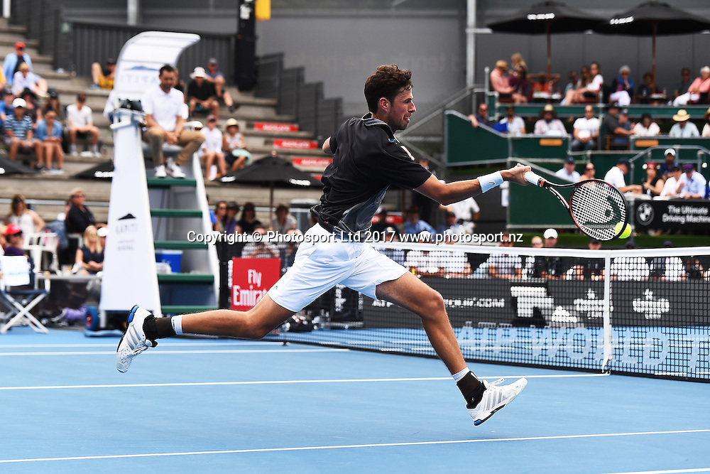 Robin Haase during the ASB Classic ATP Mens Tournament Day 1. ASB Tennis Centre, Auckland, New Zealand. Monday 9 January 2017. ©Copyright Photo: Chris Symes / www.photosport.nz