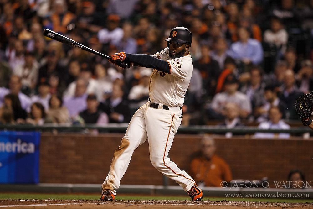 SAN FRANCISCO, CA - APRIL 18: Denard Span #2 of the San Francisco Giants at bat against the Arizona Diamondbacks during the fourth inning at AT&T Park on April 18, 2016 in San Francisco, California. The Arizona Diamondbacks defeated the San Francisco Giants 9-7 in 11 innings.  (Photo by Jason O. Watson/Getty Images) *** Local Caption *** Denard Span