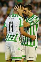 Kadir (L) and Jordi (R) during the match between Real Betis and Recreativo de Huelva day 10 of the spanish Adelante League 2014-2015 014-2015 played at the Benito Villamarin stadium of Seville. (PHOTO: CARLOS BOUZA / BOUZA PRESS / ALTER PHOTOS)